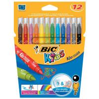 Bic Kids Couleur Felt Tip Pens Ultra-washable Water-based Medium Tip Assorted Ref 920293 [Pack 12]