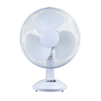 5 Star Facilities Desk Fan 16 Inch 90deg Oscillating with Tilt & Lock 3-Speed H600mm Dia.406mm White