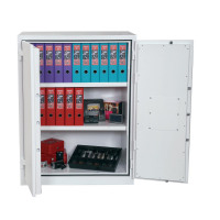 Phoenix Fire Ranger Steel Storage Cupboard Fire and Burglary Resistant W935xD520x1225mm Ref FS1512K