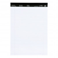 2936d7638e9 5 star office executive pad perforated top feint ruled blue margin red 50  white shee.