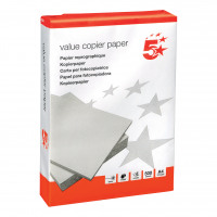 5 Star Value Copier Paper Ream-Wrapped FSC A4 White [5 x 500 Sheets]