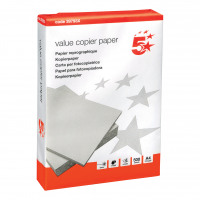 5 Star Value Copier Paper Multifunctional Ream-Wrapped FSC A4 White [500 Sheets]