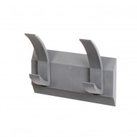 Acorn Hat and Coat Wall Rack with Concealed Fixings 2 Hooks 210x50x120mm Graphite Ref 427662
