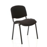Trexus Stacking Chair Black Frame Black 480x420x500mm Ref SP438150