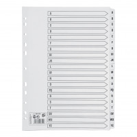 5 Star Office Index A-Z Multipunched Mylar-reinforced Strip Tabs 150gsm A4 White