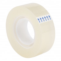 5 Star Office Clear Tape Roll Small Easy-tear Polypropylene 40 Microns 18mm x 33m [Pack 8]