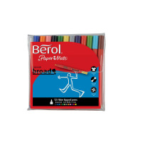 Berol Colour Broad Pen with Washable Ink 1.7mm Line Assorted Ref S0375990 [Wallet 12]