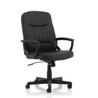 Trexus County Leather Manager Chair 520x480x420-530mm Ref 517083