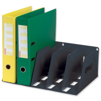 Lever Arch Filing Rack Portable Rigid Metal W425xD300xH160mm Black