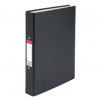 5 Star Value Ring Binder 2 O-Ring Paper Over Board Size 25mm A4 Black [Pack 10]