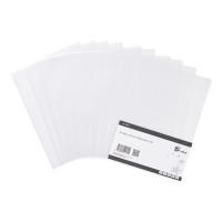 5 Star Value Folder Embossed Cut Flush Polypropylene 80 Micron A4 Clear [Pack 100]