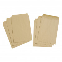 5 Star Value Envelope C4 Pocket Self Seal 80gsm Plain Manilla [Pack 250]
