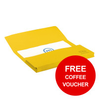 Elba StrongLine Manilla Document Wallet 320gsm 32mm Foolscap Yellow Ref 100090141 [Pack 25] [REDEMPTION]