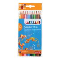 Lakeland Colourthin Colouring Pencils Hexagonal Barrel Hard-wearing Assorted Ref 0700077 [Pack 12]