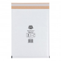 Jiffy Mailmiser Protective Envelopes Bubble-lined Size 3 220x320mm White Ref JMM-WH-3 [Pack 50]