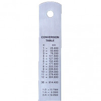 Linex Ruler Stainless Steel Imperial and Metric with Conversion Table 300mm Silver Ref LXESL30