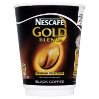 Nescafe & Go Gold Blend Black Coffee Foil-sealed Cup for Drinks Machine Ref 12367628 [Pack 8]