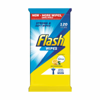 Flash All Purpose Cleaning Wipes Lemon Fragrance [120 Wipes]