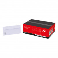 5 Star Office Envelopes DL Wallet Peel and Seal 100gsm White [Pack 500]