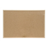 5 Star Office Noticeboard Cork with Pine Frame W900xH600mm