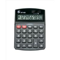 5 Star Office Desktop Calculator 10 Digit Display 3 Key Memory Battery/Solar Power 94x32x124mm Black