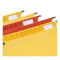 5 Star Office Plastic Tabs for Wrap-around Suspension File Clear [Pack 50]