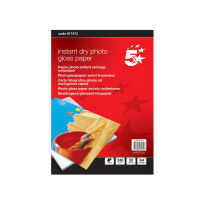 5 Star Office Photo Inkjet Paper Gloss 240gsm A4 White [50 Sheets]
