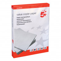 5 Star Value Copier Paper Multifunctional Ream-Wrapped 75gsm A3 White [500 Sheets]