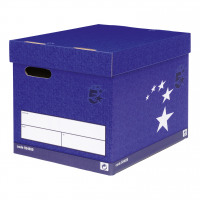 5 Star Elite Superstrong Archive Storage Box Foolscap Blue FSC [Pack 10]