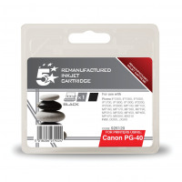 5 Star Office Remanufactured Fax Inkjet Cartridge Page Life 490pp Black [Canon PG-40 Alternative]