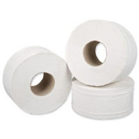 5 Star Facilities Midi Jumbo Toilet Rolls 2-ply Sheet Size 250x92mm 200m [Pack 12]