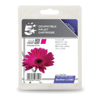 5 Star Office Remanufactured Inkjet Cartridge Page Life 260pp Magenta [Brother LC985M Alternative]
