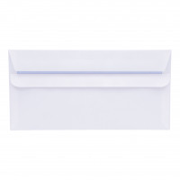 5 Star Office Envelopes DL Wallet Self Seal 80gsm White Retail Pack [Pack 50]