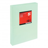 5 Star Office Coloured Copier Paper Multifunctional Ream-Wrapped 80gsm A3 Light Green [500 Sheets]