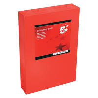 5 Star Office Coloured Card Tinted 160gsm A4 Deep Red [Pack 250]