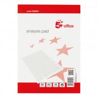 5 Star Office Analysis Pad 10 Cash Column 53 Weeks A4 White