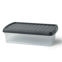 5 Star Elite Storage Clip Box Plastic Stackable with Lid 7 Litre Clear
