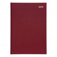 5 Star Office 2019 Diary Two Days to Page Casebound and Sewn Vinyl Coated Board A4 297x210mm Red