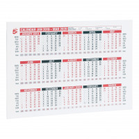 5 Star Office 2019 Wall or Desk Calendar Jan 2019-March 2020 A4 297x210mm White