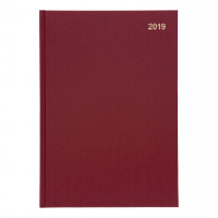 5 Star Office 2019 Diary Week to View Casebound and Sewn Vinyl Coated Board A4 297x210mm Red
