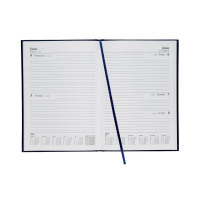 5 Star Office 2019 Diary Two Days to Page Casebound and Sewn Vinyl Coated Board A5 210x148mm Blue