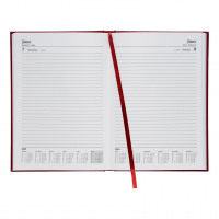 5 Star Office 2019 Diary Day to Page Casebound and Sewn Vinyl Coated Board A5 210x148mm Red