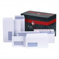 Plus Fabric Envelopes DL Wallet Self Seal 120gsm White Ref H25470 [Pack 500]