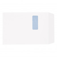 5 Star Office Envelopes PEFC Pocket Self Seal Window 90gsm C4 324x229mm White [Pack 250]