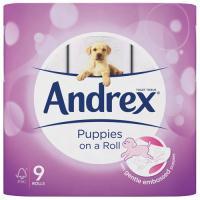 Andrex Pups White Bathroom Tissue (Pack of 9) 4978748