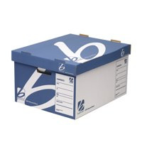 Business Archive Storage Trunk Boxes 255x380x445mm Blue/White Ref KF75001 Packed 10