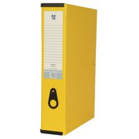 Banner Paper Covered Box File Foolscap 70mm Capacity Yellow Ref 9381009