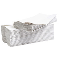 2Work Flushable C-Fold Hand Towel Embossed 2-Ply White 96 Sheets (Pack of 24) 2W00270