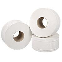2Work White 2-Ply Mini Jumbo Roll 92mmx200m (Pack of 12) 2W70323