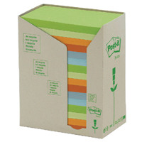 Post-it Notes Recycled Tower Pack 76 x 127mm Pastel Rainbow Pack of 16 655-1RPT